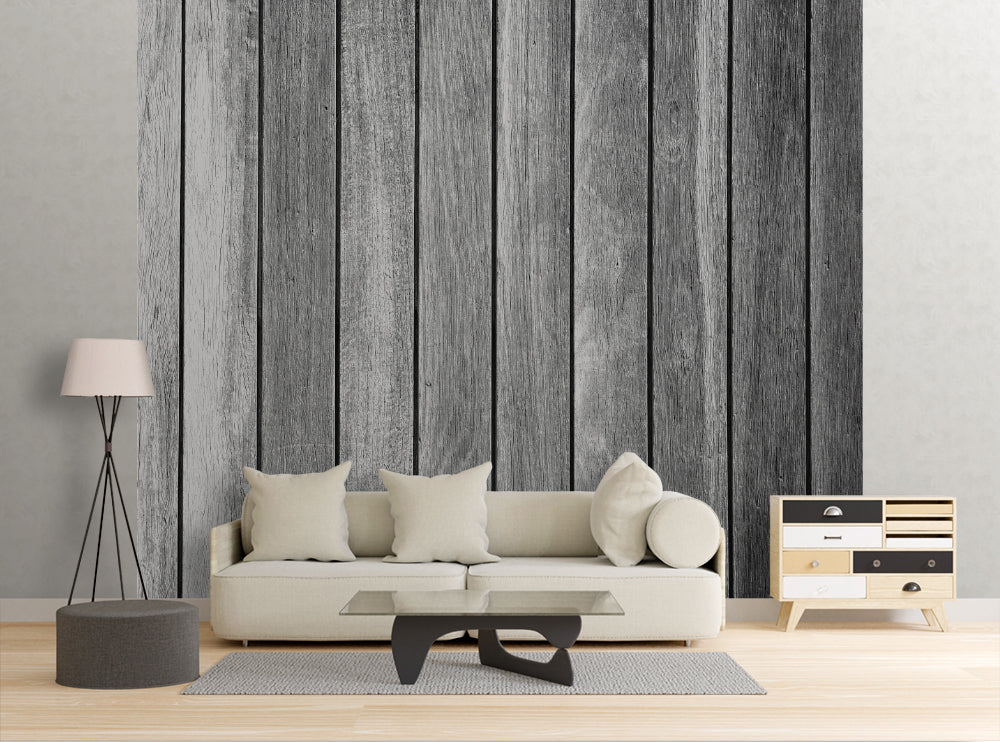 Gray Boards - Wall Mural