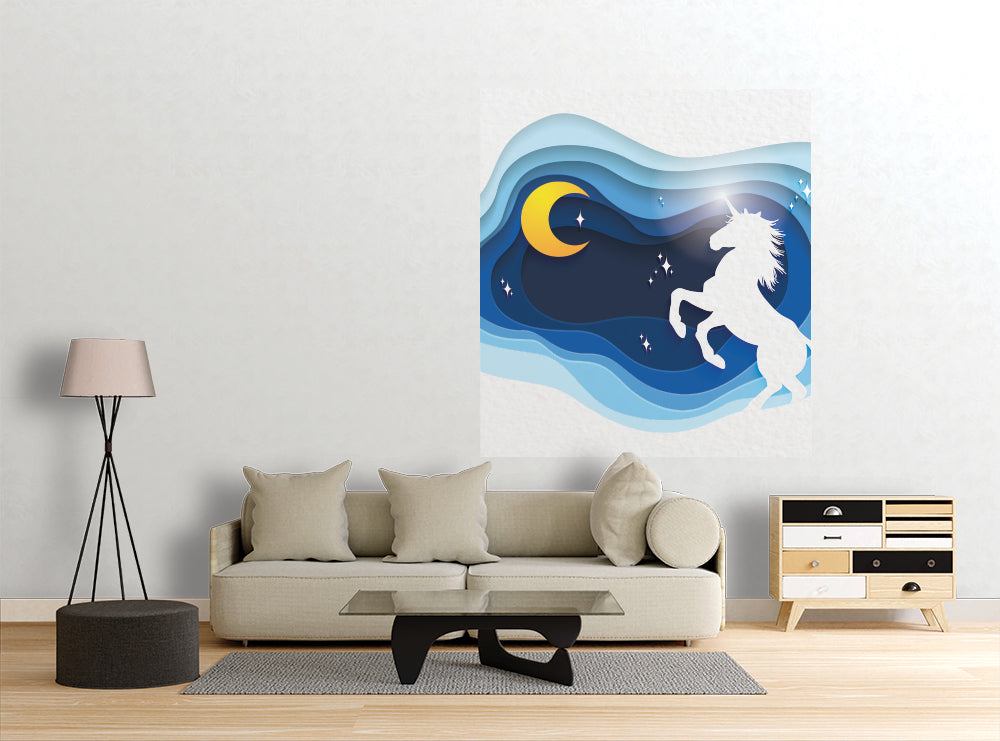 Paper Unicorn  - Wall Mural