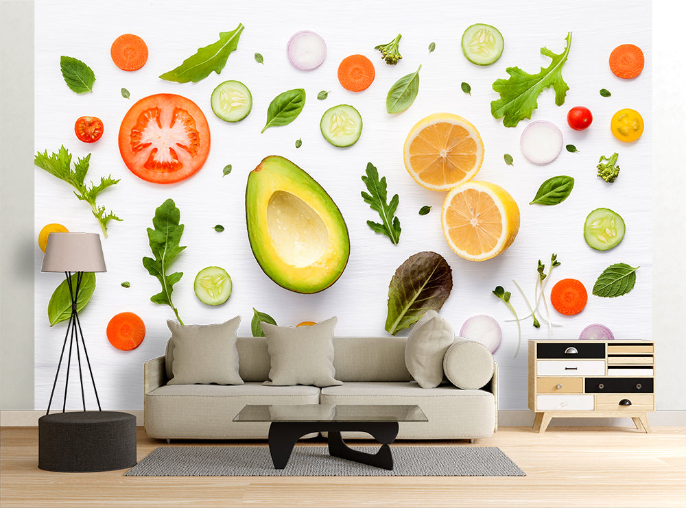 Raw Veggies - Wall Mural