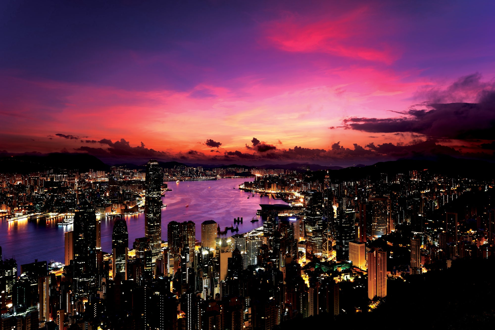 Hong Kong Sunset - Wall Mural
