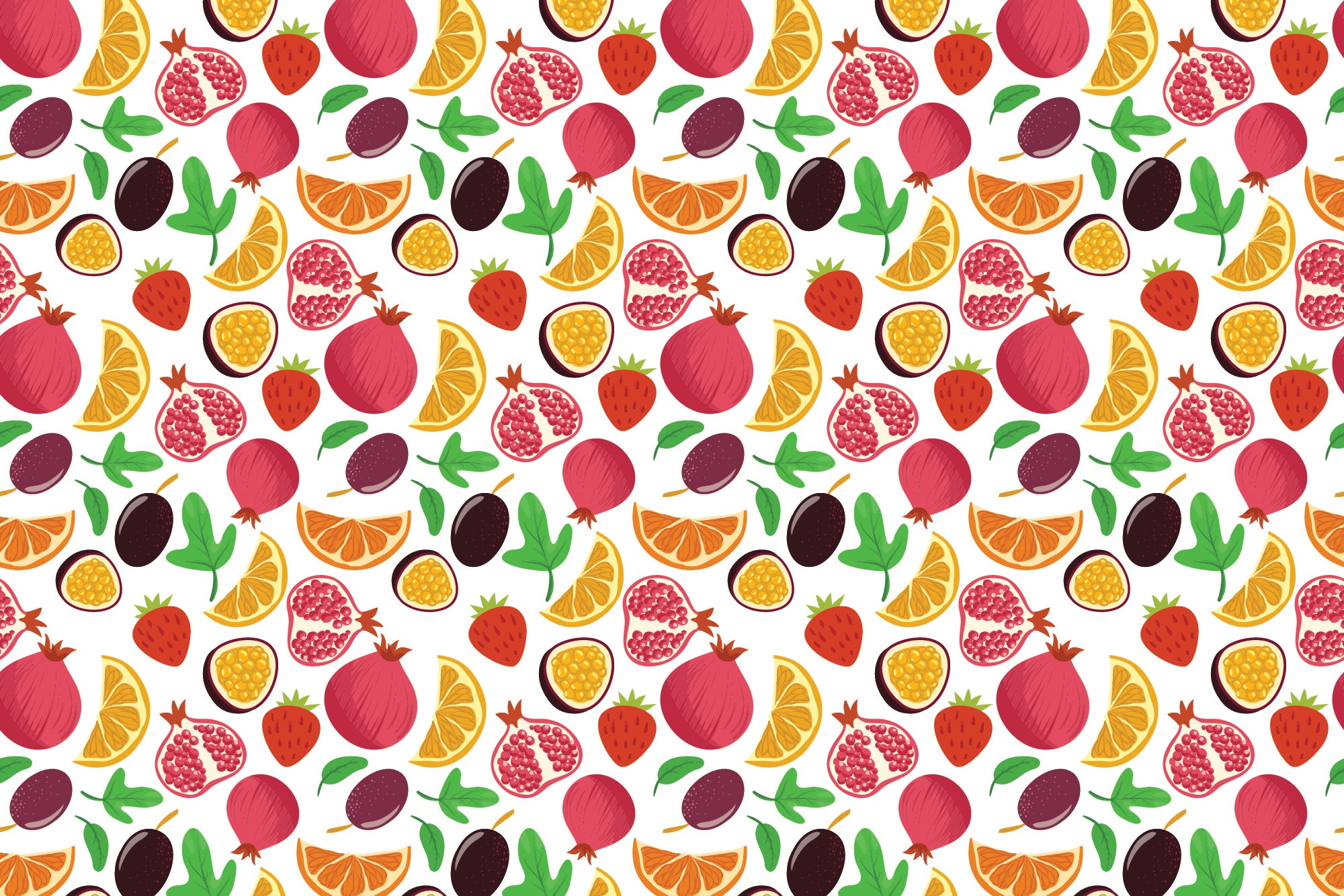 Fruit Fall - Wall Mural