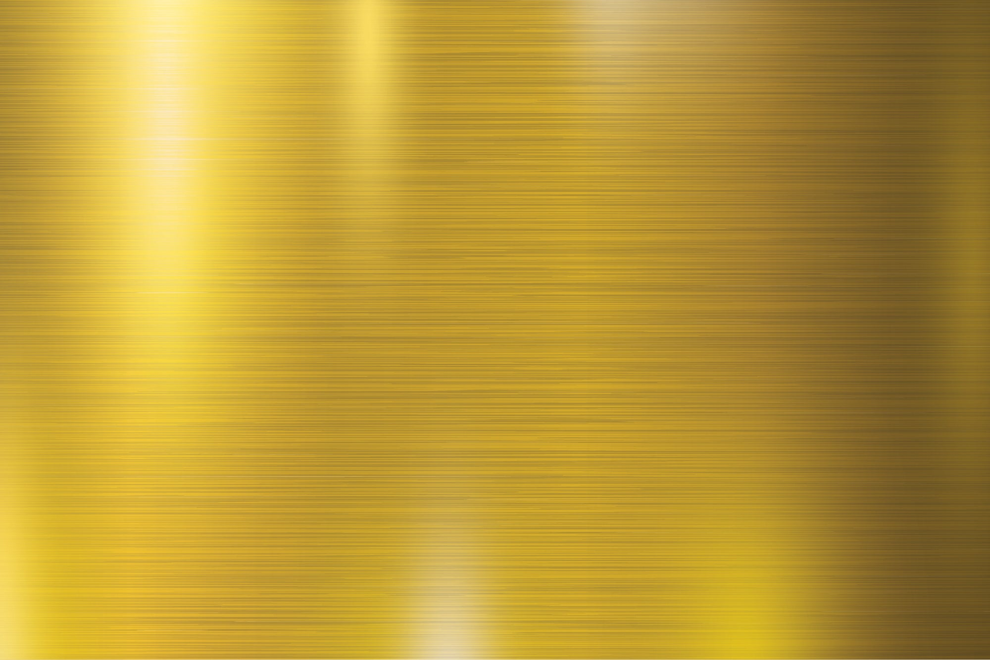 Gold Brushed Metal - Wall Mural