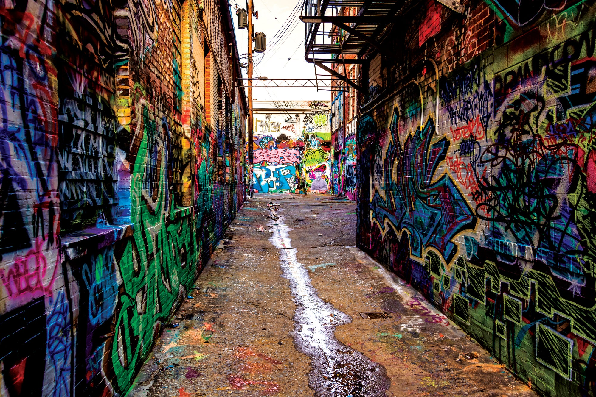 Graffiti Alley - Wall Mural