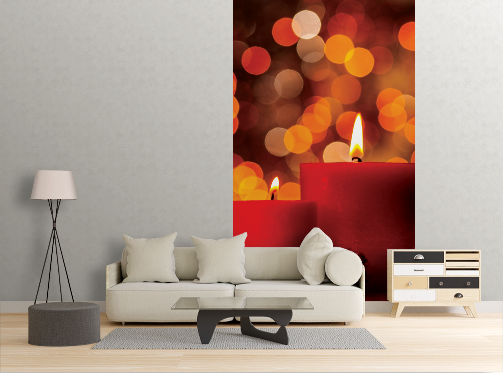 Red Candles - Wall Mural