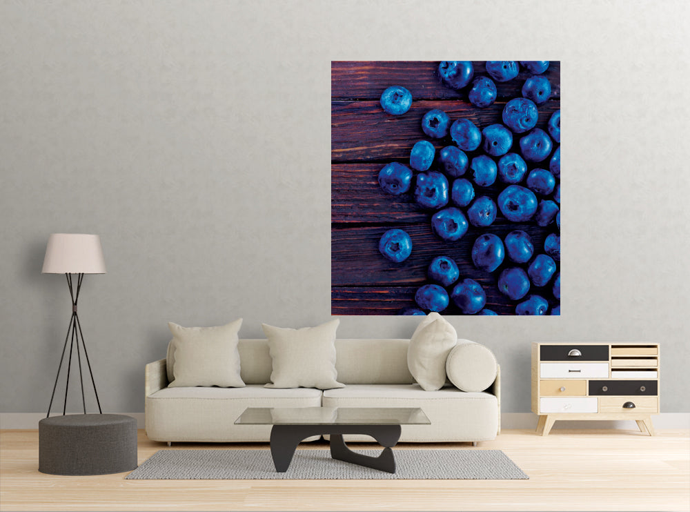 Blueberries - Wall Mural