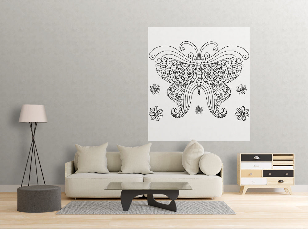 Smiling Butterfly - Dry Erase Mural