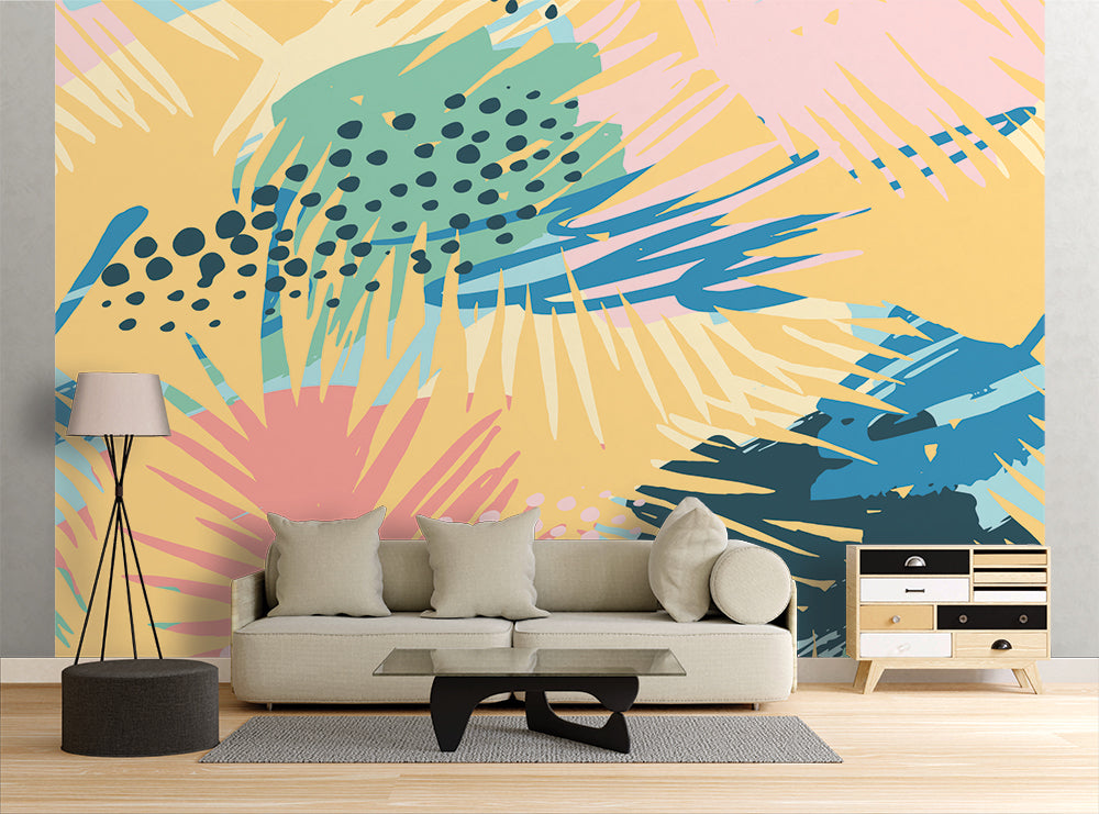 Palm Leaves - Wall Mural