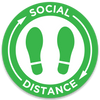 "Social Distance Floor Decals 24"" x 24"""