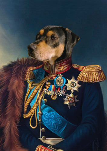 The Noble - Royal Paws - Customized pet portrait