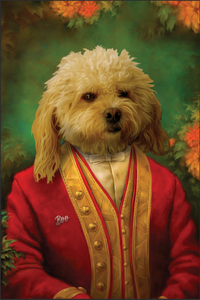 The Master - Royal Paws - Customized pet portrait