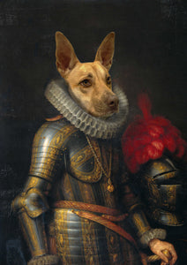 The Knight - Royal Paws - Customized pet portrait