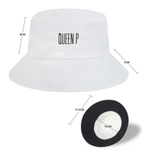 Load image into Gallery viewer, Queen P - White Bucket Hat