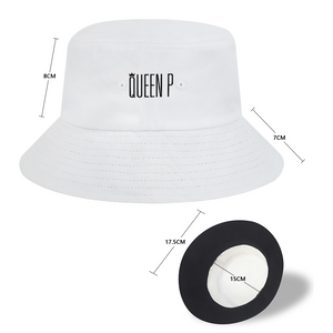 Queen P - White Bucket Hat