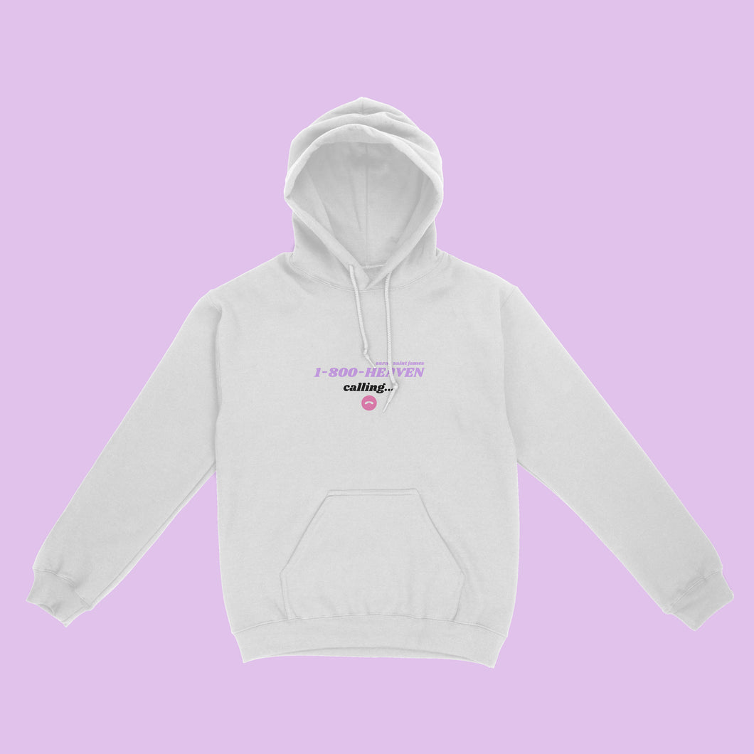 1800 Heaven Calling White Unisex Hoodie - Sarah Saint James