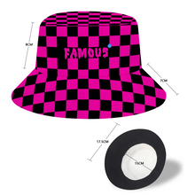 Load image into Gallery viewer, AZURE - FAMOUS Pink & Black Bucket Hat