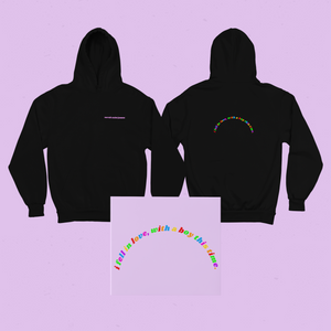 I fell in love with a boy Black Unisex Hoodie - Sarah Saint James