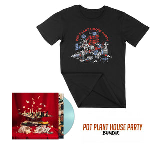 Pot Plant House Party - Black Tee & Vinyl - Bundle