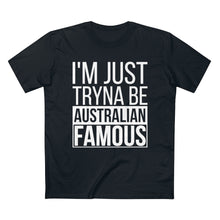 "Load image into Gallery viewer, Clue ""Australian Famous"" Tee - Black"