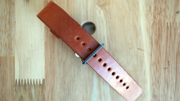 Watch Strap made of Wickett&Craig Skirting leather