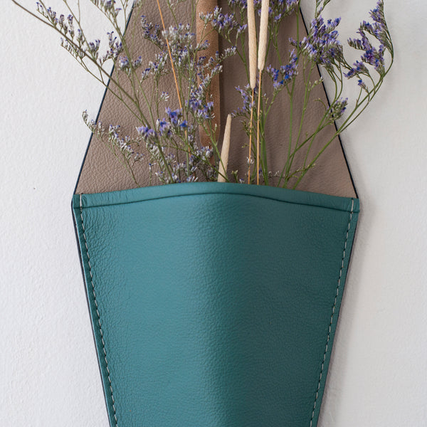 Large Slipper Wall Vase in Agave