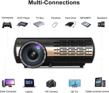 Load image into Gallery viewer, 8500 Lumens Native 1080P Android 6.0 SLR WiFi Outdoor Home Theatre LED Projector