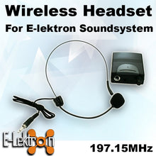 Load image into Gallery viewer, E-Lektron EL-M197.15 VHF Headset Microphone for PA Portable Sound system
