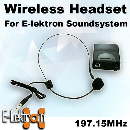 E-Lektron EL-M197.15 VHF Headset Microphone for PA Portable Sound system