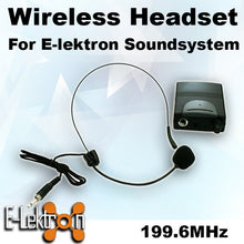 Load image into Gallery viewer, E-Lektron EL-M199.6 VHF Headset Microphone for PA Portable Sound system