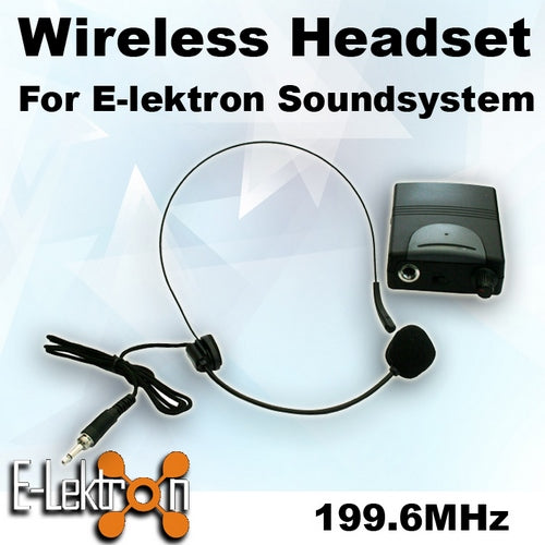 E-Lektron EL-M199.6 VHF Headset Microphone for PA Portable Sound system