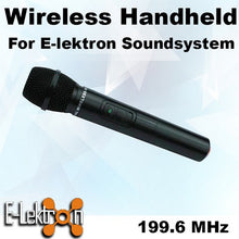 Load image into Gallery viewer, E-Lektron EL-M199.6 VHF Handheld Microphone for PA Portable Sound system