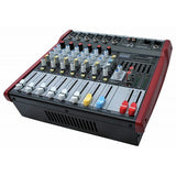 E-Lektron PW-608 Live Power Audio Mixer 6-channel stereo MP3 500W Amplifier