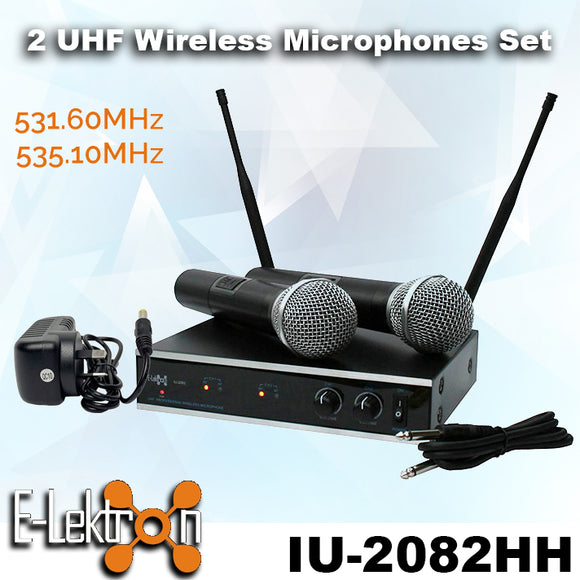 IU-2082HH Digital UHF Wireless 2 x Handheld Microphone System Set