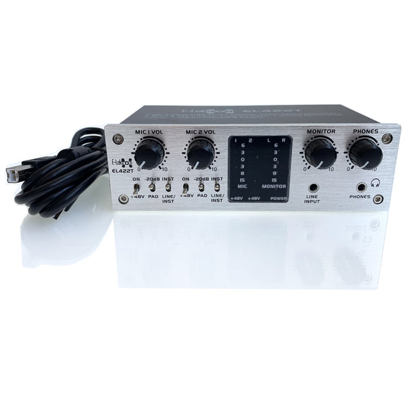 E-lektron USB Audio Interface 4X2 24bit 96kHz audio resolution