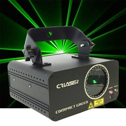 CR Laser Compact Green 100mW Laser Disco Light Auto Sound DMX IR Remote Control
