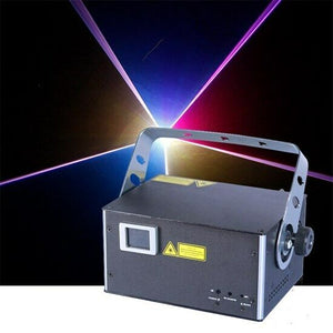 CR Laser Fine 7 RGB 1W Laser 20k Scanning Auto Sound DMX ILDA with keyboard