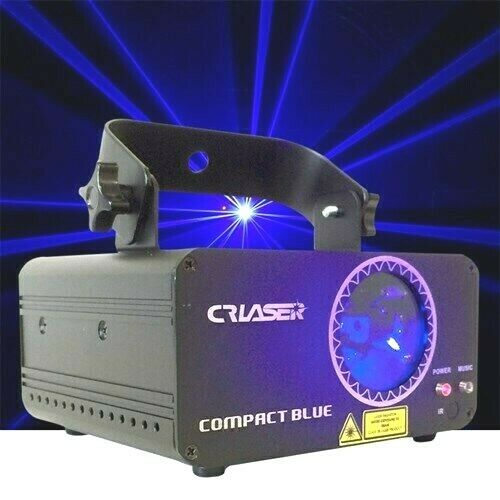 CR Laser Compact Blue 500mW Laser Disco Light Auto Sound DMX IR Remote Control