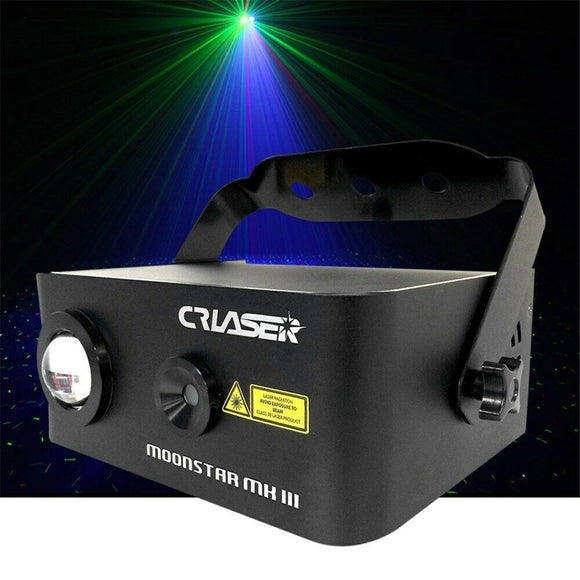 CR Laser Compact Moonstar RGB Laser with 150mW Red 50mW Green 5W Blue LED effect