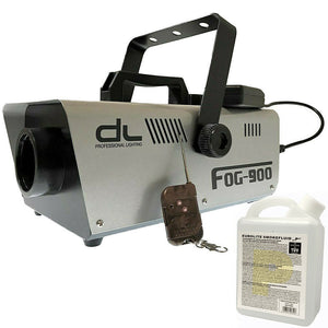 DL 900w Fog Smoke Machine with Wired and Wireless Remote Control w 1L Liquid