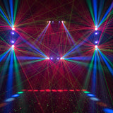 CR Dynamic Light Effect with RGBAW LED matrix, Black Light, Red Greed laser & Strobe