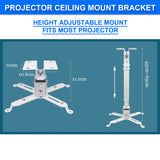 Adjustable LCD LED DLP Projector Bracket Ceiling Wall Tilt Mount Extension Bar