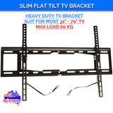 "Slim Tilt Flat TV Wall Mount for 32""-70"" LED LCD Plasma TV Monitor Bracket Max Load Capacity up to 60kg"