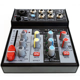 E-lektron 4 Channel Audio Interface Mixer mixing console for recoding singing conference