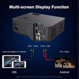Native 1080P 8000 Lumens HD SLR Len LED Projector Media Home Outdoor Cinema HDMI USB