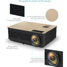 Load image into Gallery viewer, Native 1080P 8000 Lumens HD SLR Len LED Projector Media Home Outdoor Cinema HDMI USB