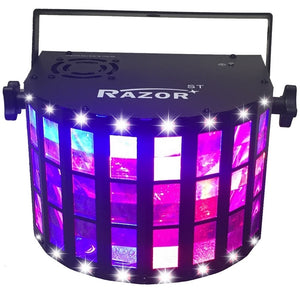 CR Lite Razor Sound Activated LED Derby Effect Light with white Strobe