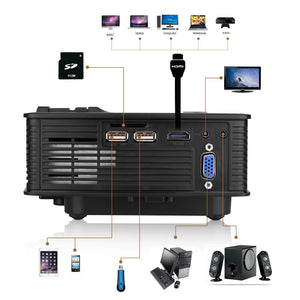 Portable 1080P 5000 Lumens HD LED Multimedia Projector Home Cinema Theater HDMI