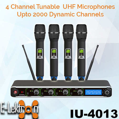 UF-1095 Dynamic Digital 400 Channels UHF Wireless Tunable 4 Handheld Microphon System