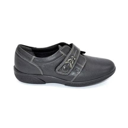 Ladies Wide Fit Velcro Fastening Shoes