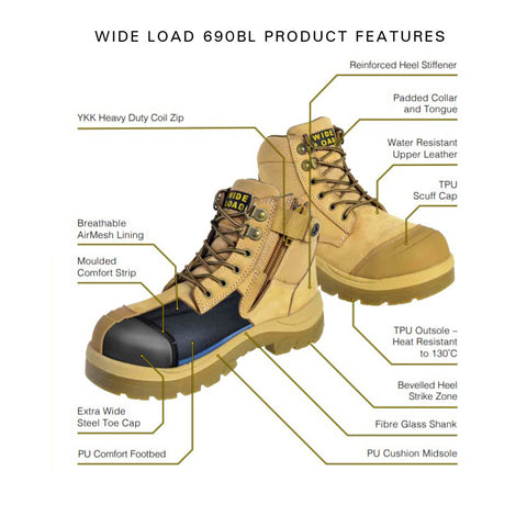 Wide Fitting Safety Boot Product Features