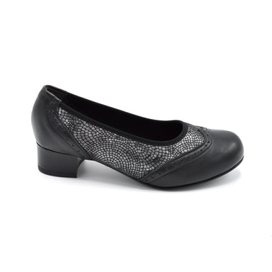 DB Black Extra Wide Court Shoe